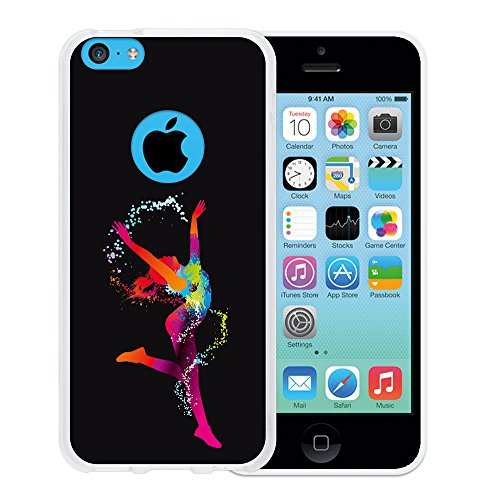 iPhone 5C Hülle, WoowCase Handyhülle Silikon für [ iPhone 5C ] Basketball Handytasche Handy Cover Case Schutzhülle Flexible TPU - Transparent Housse Gel iPhone 5C Transparent D0030