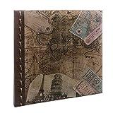 Kenro Album photo vintage avec carte de l'Ancien Monde 40pages Auto-adhésif 33,5x 32,5cm