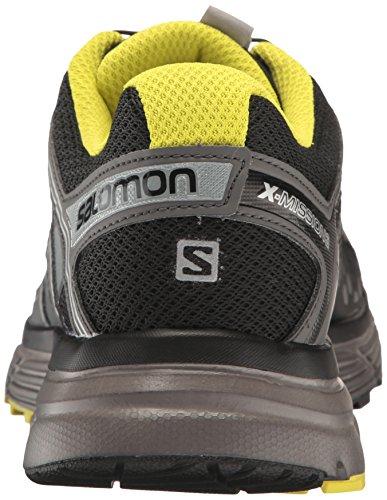 Salomon - X-mission 3, Scarpe da trail running Uomo Nero (Black/Magnet/Sulphur Spring)