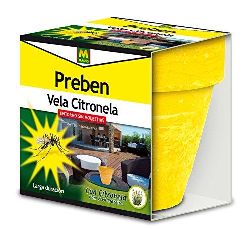 Foto de Preben 231456 Vela con Citronela Anti-Mosquitos, Amarillo, Naranja y Verde, 11.5x10.5x11.8 cm