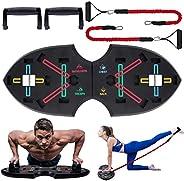 Push Up Rack Board, 12 in 1 pieghevole multifunzionale per allenamento a casa Attrezzature per il fitness, Tel