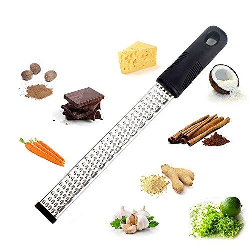 Râpe à fromage, DE mise à niveau Zesteur Outil avec brosse de nettoyage pour agrumes, Chocolat, noix de coco, Gingembre, légumes avec Sharp Lame en acier inoxydable