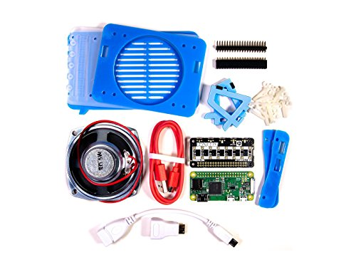 Price comparison product image In ZIYUN Pimoroni Pirate Radio - Pi Zero W Project Kit, Build your very own internet-connected radio, Dual I2S DAC / amplifiers, 3W per channel, 16 RGB LED pixels (APA102) in 2 rows of 8, 5W 4 speaker