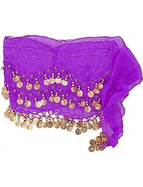 Cadera danza del vientre oriental bufanda bufanda de las señoras bufanda púrpura