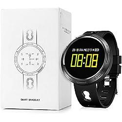 Nacatin Relojes Deportivos con Pulsómetro de Actividad, Smart Watch Reloj Inteligente Bluetooth 4.0, IP68 Impermeable, Reloj Mujer y Hombre con Sueño Monitoreo y Sedentario Recordatorio