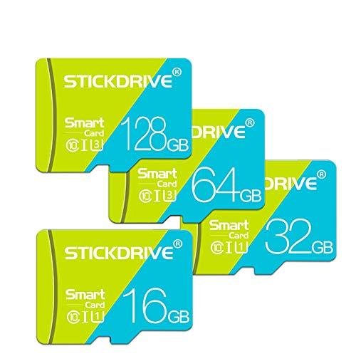 ZENG Micro-SD-Speicherkarte für Mobiltelefone, 32 GB Speicherkarte der Klasse 10 Hochgeschwindigkeits-Speicherkarte TF-Karte Geeignet für das Fahren von Tablet-Rekordern mit Mobiltelefonen,128GB