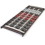 MEDITEC stabiler TPEE TELLER Lattenrost - TÜV/GS+LGA/QS geprüft FERTIG MONTIERT - 5-Zonen - nicht verstellbar starr - HÄRTE differenzierte dreidimensionale TPEE EINZEL-TELLER-Federelemente RAVENSBERGER 90x200 cm