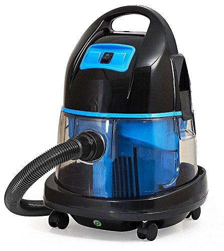 Staubsauger mit Wasserfilter | Beutellos | Wasserstaubsauger | Nass und Trocken Boden Staubsauger | 2.000 Watt | Blau |