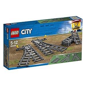 LEGO City Trains Scambi Ferroviari 6 Pezzi, Set di Accessori Aggiuntivi, 60238 5702016364675 LEGO