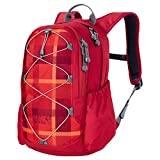Jack Wolfskin Kids grivla Pack Rucksack, Unisex Kinder, 2006111, Indian Red Woven Check, Einheitsgröße