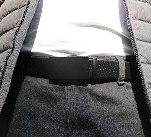 ITIEZY Herren Gürtel Ratsche Automatik Gürtel für Männer 35mm Breit Ledergürtel Schwarz 112