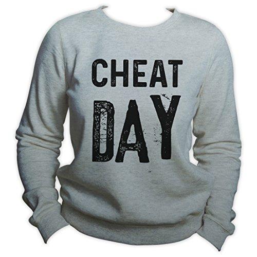 King Shirt Cheat Day Sweatshirt No Diet Today Fitness Life Sweater Funny Sports Sweater Crewneck (Cheats Für W)