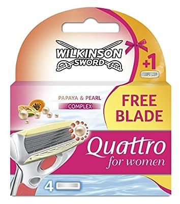 Wilkinson Sword Quattro Razor Blades for Women - Pack of 4