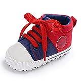 Chaussures Bébé Binggong Chaussures Nouveau-né Bébé Garçons Filles Toile Chaussures À Lacets Crib Prewalker Doux Antidérapant Chaussures Premiers Pas pour 0-6, 6-12, 12-18Mois