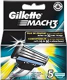 Ancienne Version Gillette Mach3 Lames de Rasoir Pack de 5
