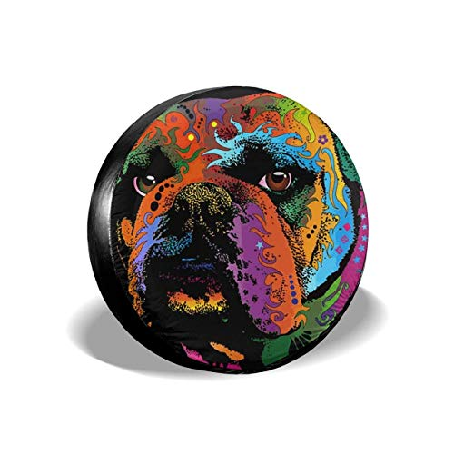 Vbnbvn Reserveradabdeckung, Multicolor Pug Universal Fit Spare Tire Cover Waterproof Keeps Dirt Rain and Sun Away from Your Spare Tire