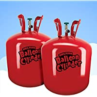 Helium Canister - For 60 Balloons, 2 x Gas Cylinders Super Saver Kit
