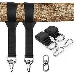 KAILH Set colgante swing, correas de sujeción accesorios de suspensión, puede soportar Peso 1000 kg, para hamacas y columpios