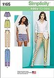 Simplicity 1165 cartamodell per pantaloni da donna lunghi o short, taglie 34-42 cm