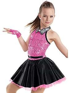 cbin hua moderner tanz jazz auff hrung cheerleader kost me kleider als bild zeigen elastan. Black Bedroom Furniture Sets. Home Design Ideas