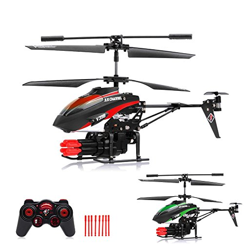 3.5 Kanal RC ferngesteuerter Modellbau-Hubschrauber mit Schussfunktion und Gyro-Technik für Hobby-Flieger, Ready-to-Fly Heli-Modell, Komplett-Set