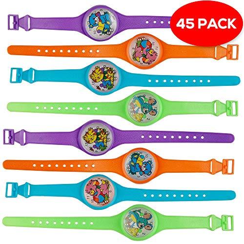 45x Kinder Spiel Armbanduhr - Spielzeug Geschicklichkeitsspiel & Kinderuhr Geduldspiel - ideal Uhr als Partyzubehör für Kindergeburtstag, Partyartikel, Geburtstags-Mitbringsel & Party-Scherzartikel