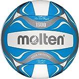 Freizeitball, weiches Synthetik-Leder, maschinengenäht - Farbe: Blau/Weiß/Silber, Größe: 5