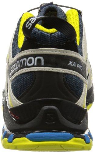 Salomon  Xa Pro 3D, Baskets pour homme rouge * Grau-Neongelb-Blau