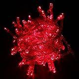 BestOfferBuy 10M 100 Lámpara LED Decorativo Cuerda Foquitos Rojo Enchufe UE Extensible