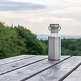 Pure Design – 500 ml Edelstahl Trinkflasche in Geschenk Verpackung - 4