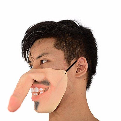 isierte Yin und Yang Latex Masken Halloween Adult Dance Horror Kopf Set Party Dekorieren Lustige Halbe Gesichtsmaske (Yin Yang Kostüm)