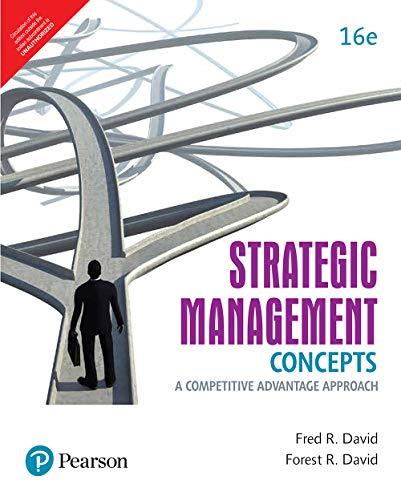 Strategic Management Concepts: A Competitive Advantage Approach