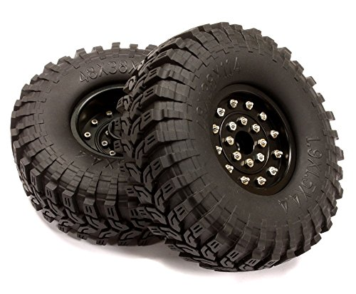 integy-rc-hobby-c25042black-billet-machined-0-spoke-xm-19-wheel-tire-2-for-scale-crawler-od114mm