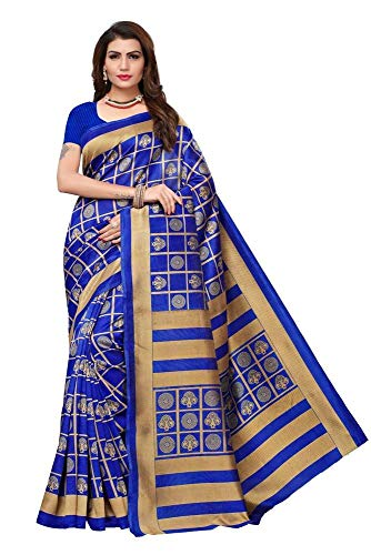 Indian Bollywood Wedding Saree indisch Ethnic Hochzeit Sari New Kleid Damen Casual Tuch Birthday Crop top mädchen Cotton Silk Women Plain Traditional Party wear Readymade Kostüm (Blue) (Indische Kostüm Für Fancy Dress)