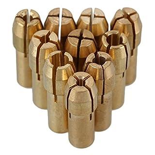 cnbtr 0,5-3,2 mm Messing Spannzange Bohrfutter passend für Dremel Rotary Werkzeuge Elektro-Schleifstifte sammeln Chuck Halter 10 Stück (4,8 mm Schaft Dia.)