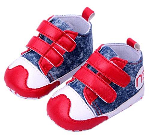 Smile YKK Baby-Junge Sandalette Lauflernschuhe Segeltuch 12 Rot Rot