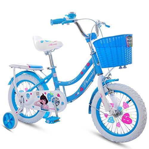 Vélos pour enfants, poussette fille, cyclisme pour enfants ( Couleur : Bleu , taille : 125cm )