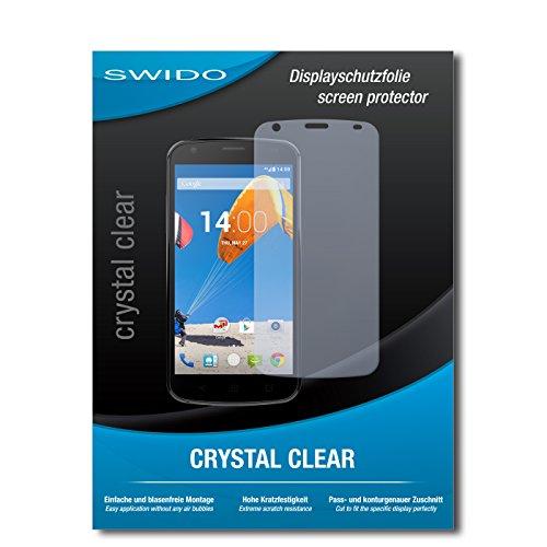 SWIDO Bildschirmschutz für MobiWire Pegasus [4 Stück] Kristall-Klar, Hoher Härtegrad, Schutz vor Öl, Staub & Kratzer/Schutzfolie, Bildschirmschutzfolie, Panzerglas Folie