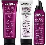 (3Pack) Charles Worthington Volumen & Bounce Hair Set, Volumen & Schwung Shampoo 250ml, Volumen & Bounce Conditioner 250ml & Volumen & Schwung Body Boosting Mousse 200ml