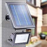 Solar 30 LED Außenleuchte Strahler Solarleuchte Fluter Solarlicht Flutlicht mit Lichtsensor Sicherheitslicht IP65 Wasserdicht (Solar light)