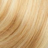 Extension Fil Cheveux Naturel Fil Invisible Transparent Elastique 100% Cheveux Humain Remy Hair Extensions Réglable Sans Clips #18+613 Sable blond Méché Blond très clair 16 Pouces, 40cm