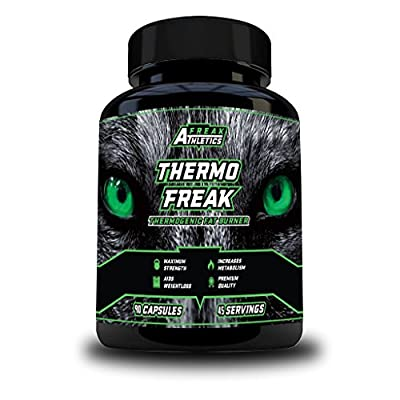 THERMO FREAK – Thermogenic Fat Burner - An Advanced Fat Loss & Weight Management Supplement, Using an Optimal Formula of Green Tea - L-Carnitine - Bitter Orange & Caffeine – A Potent Combination of ingredients That Create A POWERFUL Fat Burner & Weight lo