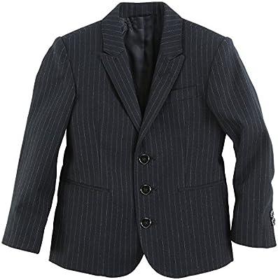 New Fashion - Chaqueta de traje - Rayas - para niño Negro gestreift Schwarz 32