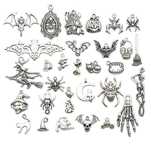 Craft Supplies Charm-Anhänger zum Basteln, für Schmuck, Schmuckherstellung, Zubehör für DIY Halsketten und Armbänder Halloween Charm