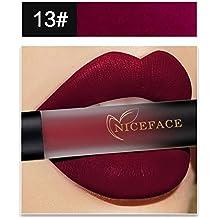 Bluestercool 18 Couleurs Rouge à Lèvres Mat Liquide Waterproof Rouge à Lèvres Dégradé