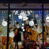 WL Wandaufkleber Weihnachten Wandaufkleber Elch Weihnachtsmann Kunst Baum Schneeflocke Kunst Aufkleber Szene Applikation Wandbild Fensteraufkleber Schaufenster PVC Aufkleber 25