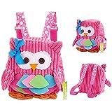 Babyrucksack Mini Backpack OASMU Kinderrucksack Kindergartentasche Schultasche für 1-7Jahre mädchen Junge,Rucksack Kindergarten Eule auswahlbar