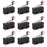 UEETEK 10pcs 250V 5A SPDT 1NO 1NC levier de rouleau de charnière momentanée Micro commutateurs 3 broches