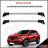 Renault Kadjar ab 2015 SUV Alu Dachträger Gepäckträger Grau Wing Carrier Schlüssel V2