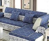 BMY Sofa Shield Sofá Funda de algodón Protector de Muebles para Funda de sofá de 1,2,3 Cojines Máquina Lavable-Pieza única para la Venta (Azul Marino) -A 90x90cm (35x35inch)